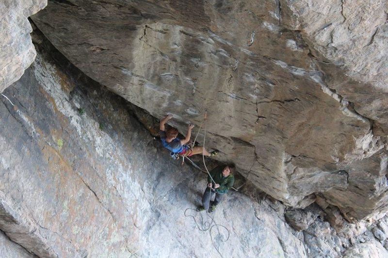"""Rock Climbing Photo: Climbing the beautiful """"cloak"""" on Cloak ..."""