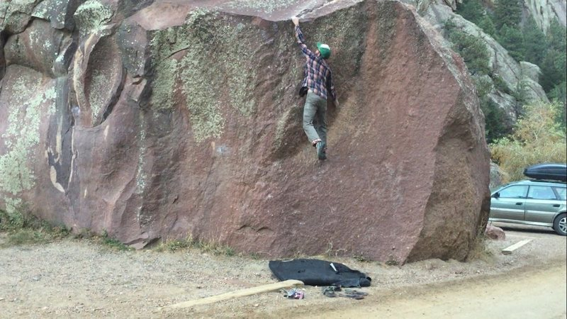 "Rock Climbing Photo: The lip move on ""Milton""."