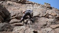 Rock Climbing Photo: Kirk's heels.