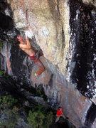 Rock Climbing Photo: Isaac Duncan setting up for the sick throw.