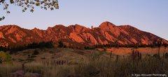 Rock Climbing Photo: Sunrise over the Flatirons.