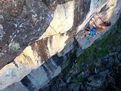 Rock Climbing Photo: Robert Omann doing a perimeter check.