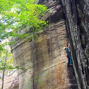 Rock Climbing Photo: Becky on this amazing line!