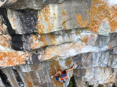 Rock Climbing Photo: Kurt Hager on Lakota Son Rise, 5.13a, Secret Lake.