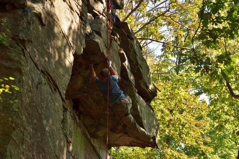 Rock Climbing Photo: John Kelbel on The Bat Swing.