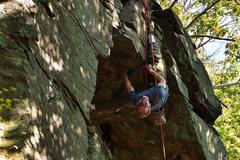 Rock Climbing Photo: The bomber heel hook