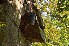 Rock Climbing Photo: The hamstring stretch move.