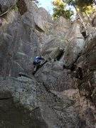 Rock Climbing Photo: Getting into the first corner.