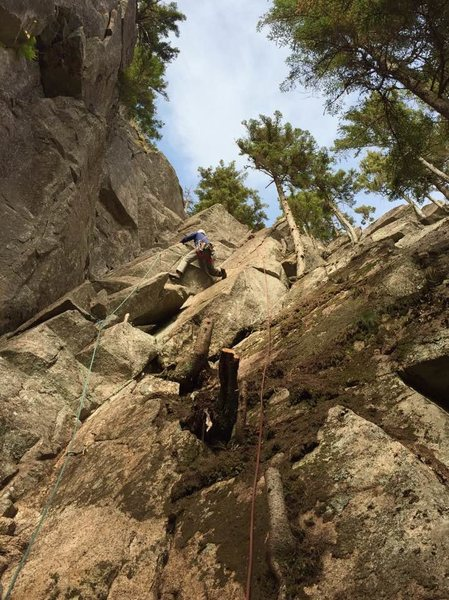 Rock Climbing Photo: Midway through the route.