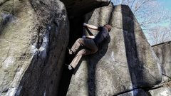 Rock Climbing Photo: Trying the layback variation. I was a little confu...