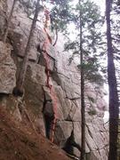 Rock Climbing Photo: Tom's Route