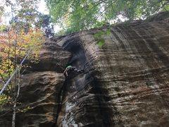 Rock Climbing Photo: Approaching the crux...
