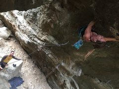 Rock Climbing Photo: D can't help but smile because the moves of Ne...
