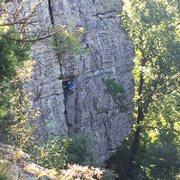 Rock Climbing Photo: Jeff on Diet Pepsi