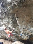 Rock Climbing Photo: Micah looking like Brzenk on the opening moves.