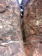Rock Climbing Photo: P1: Low-angle gully.