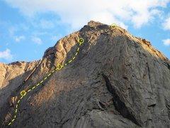 Rock Climbing Photo: Beckey Chouinard Route Mitchell Peak 5.7ish...Gran...