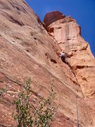 Rock Climbing Photo: Starting P1 of the Ice Cream Cone Route. Nice feat...
