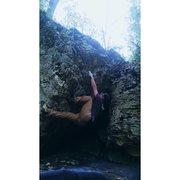 Rock Climbing Photo: Heel Hook-Toe Hook Move