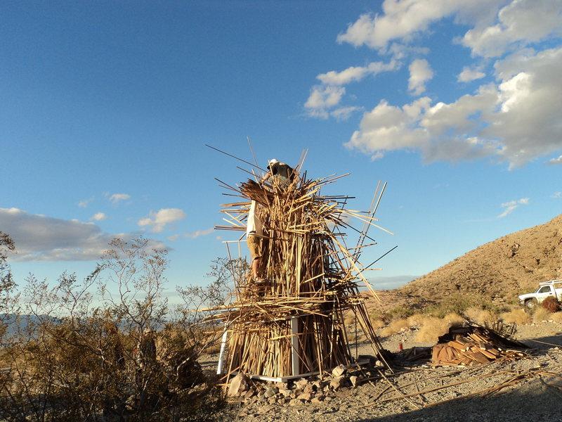 Building the 2014 Keyhole Classic bonfire.
