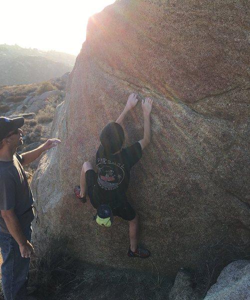 Rock Climbing Photo: 10/19/16 on Crystal Gem (I think)