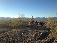 Rock Climbing Photo: 2015 Keyhole Classic bonfire, pre-ignition.