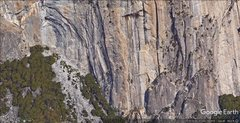 Rock Climbing Photo: Serenity and SoY clearly seen as the lichen scrubb...