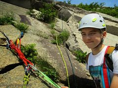 Rock Climbing Photo: Top of P1 with Tom