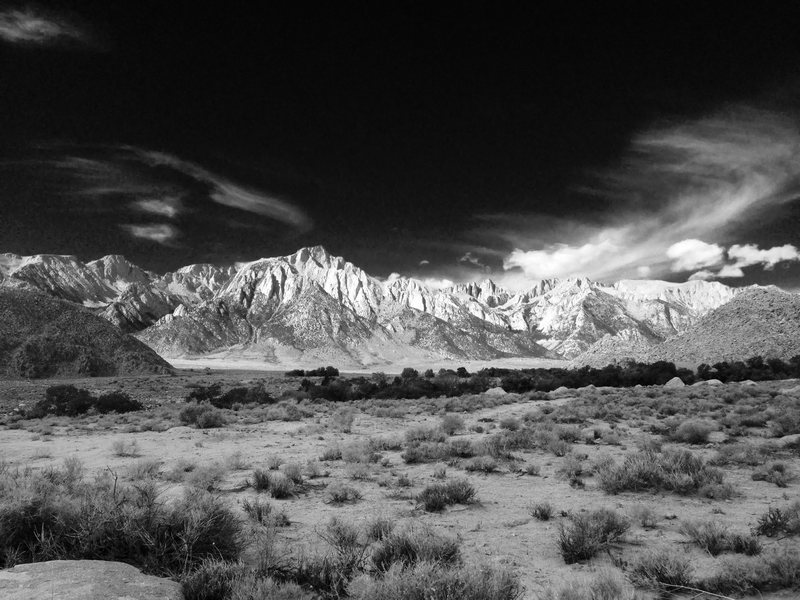 Rock Climbing Photo: B&W Alabama Hills!!!