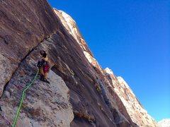 Rock Climbing Photo: C. Norwood Blasting off on P2!!