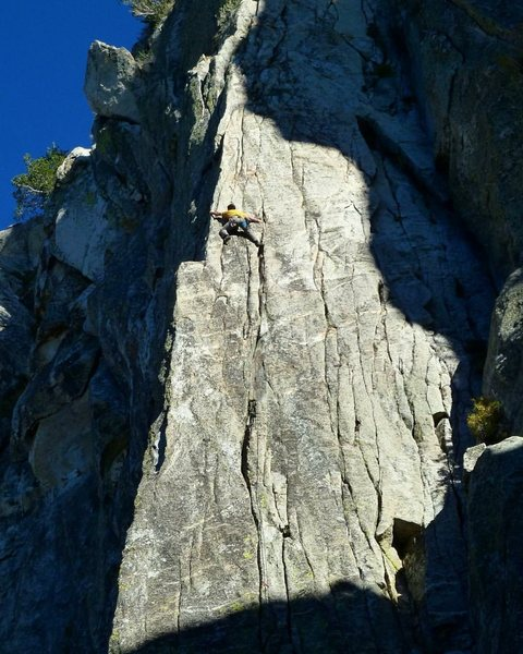 Rock Climbing Photo: Brian on LB Direct!!! Photo by Chris Hubbard!!