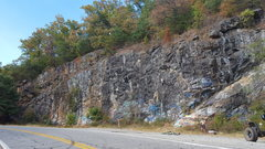Rock Climbing Photo: Full view of G-Wall from right to left. You can se...
