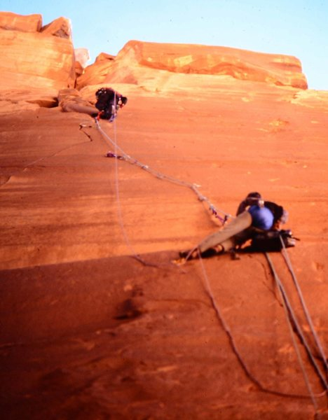 Rock Climbing Photo: Looking up from the base, about to reach easier gr...