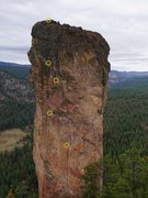 Rock Climbing Photo: West Face belays. Linked P1+P2, then all the way t...