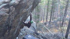 Rock Climbing Photo: An action shot!