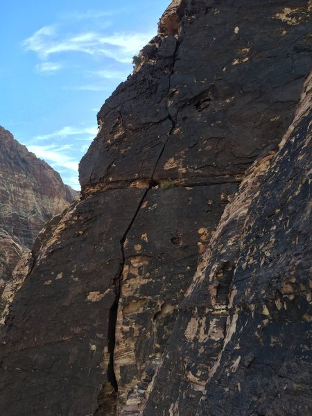 Rock Climbing Photo: The Big Horn pitch #3