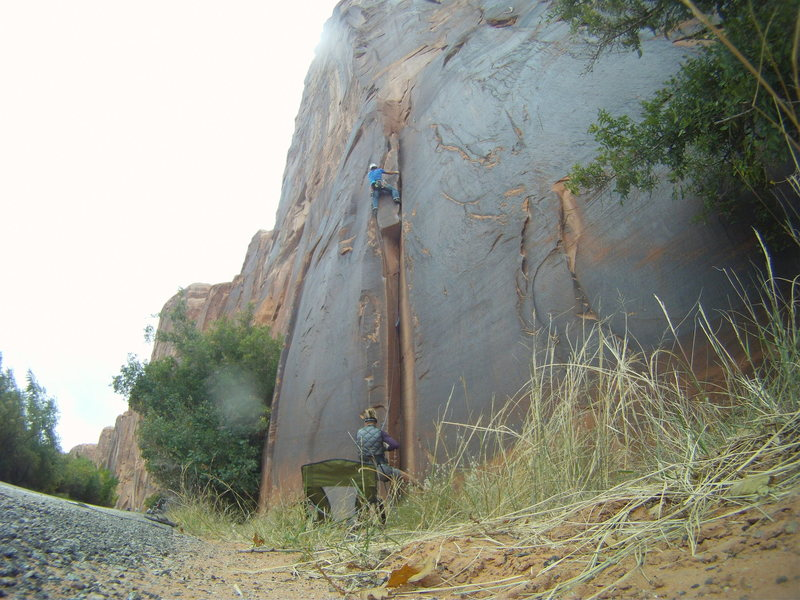 Nearing the top out on El Cracko Diablo