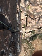Rock Climbing Photo: Climbers following the crack pitch.  License: CC-B...