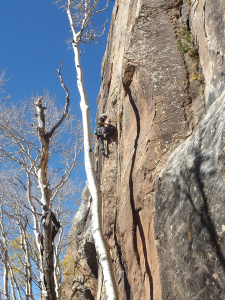 Rock Climbing Photo: Sky Dog, great route for only 2 stars