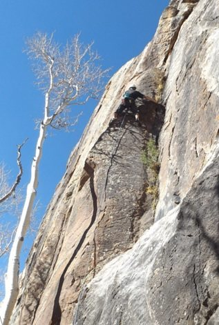 "Rock Climbing Photo: We think this is ""Time Will Tell"""