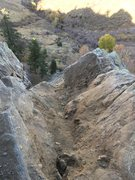 Rock Climbing Photo: This is now the top of this face and the corner. T...