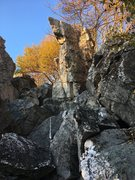 Rock Climbing Photo: The 'front' of the wolf - looking West fro...