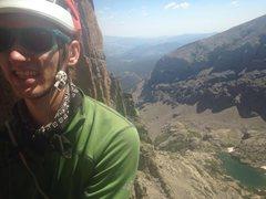Rock Climbing Photo: Loving life on Petit Grepon