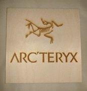 Arc'teryx plaque.