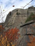 Rock Climbing Photo: Tales of Weakness on the left (5.9), Finger Lock&#...