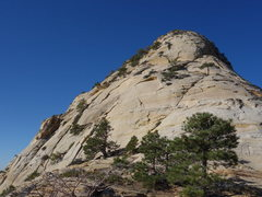 Rock Climbing Photo: Closer view of the wandering route. You can bump u...
