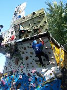 Rock Climbing Photo: steep 45 degree wall overhanging fun