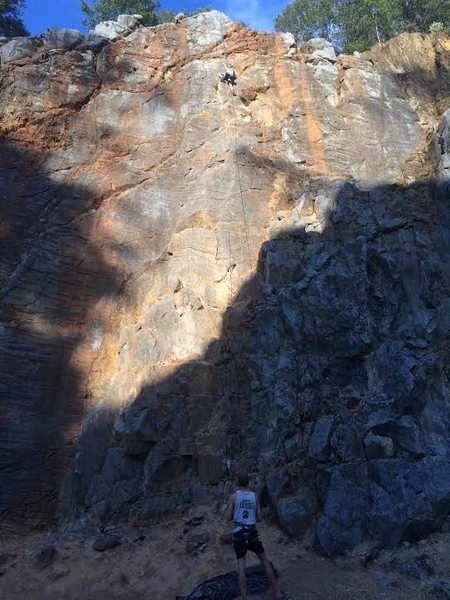 Rock Climbing Photo: This route is suited for somebody over 5' tall...
