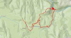 Rock Climbing Photo: Bonas Defeat approach GPS tracks. Park somewhere a...