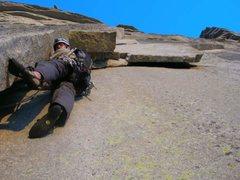Rock Climbing Photo: Zig zags, half dome